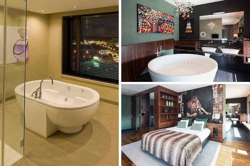 Mit einer großen Auswahl an luxuriösen Wellness Suiten stellt das Airporthotel Düsseldorf in NRW viele Hotelzimmer mit Whirlpool in den Schatten