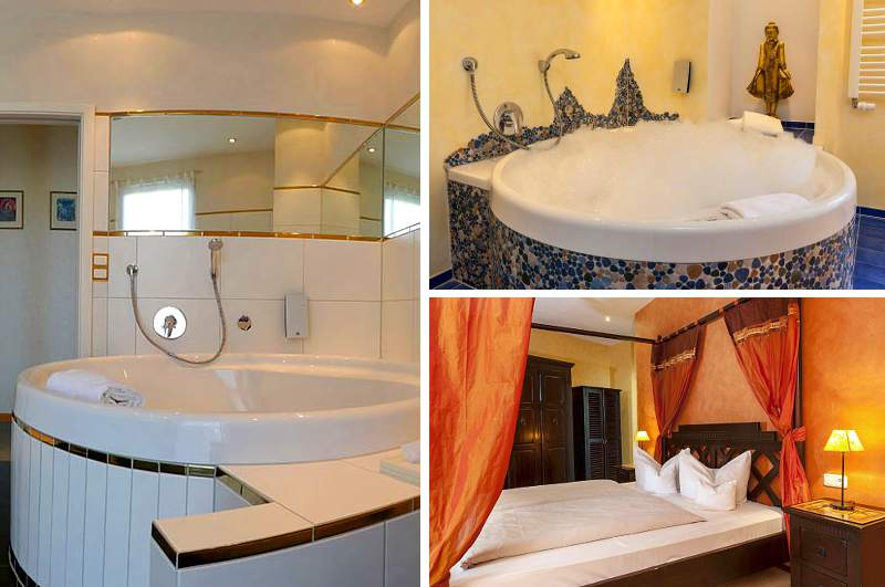 Auch im nördlichen Bayern finden Hotelzimmer mit Whirlpool bei den Gästen des Hotels Bristol im fränkischen Kurort Bad Kissingen Gefallen