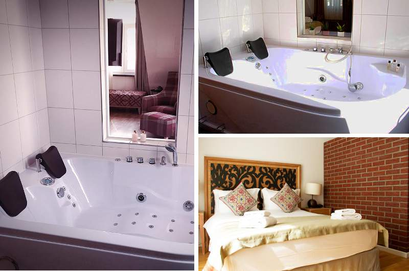 In Berlin Spandau verfügt das Boutique Hotel Fährhaus über schicke Hotelzimmer mit Whirlpool für zwei.